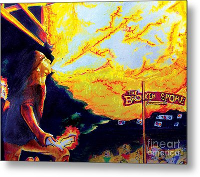 Joe At The Broken Spoke Saloon Metal Print