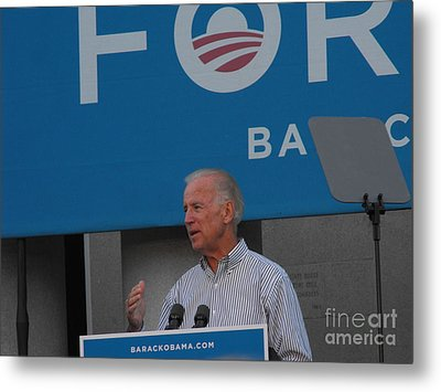 Joe Biden Metal Print by Lisa Gifford