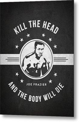 Joe Frazier - Dark Metal Print by Aged Pixel