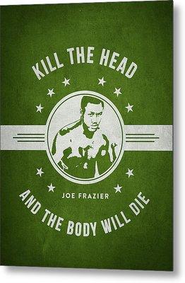 Joe Frazier - Green Metal Print by Aged Pixel