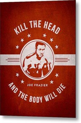 Joe Frazier - Red Metal Print by Aged Pixel