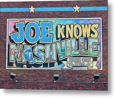 Joe Knows Nashville Metal Print