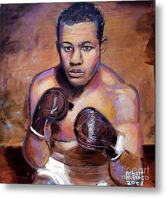 Metal Print featuring the painting Joe Louis by Robert Phelps