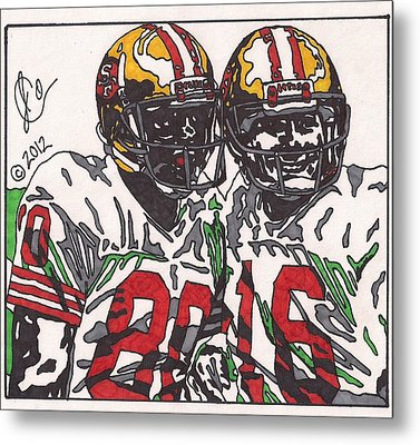 Joe Montana And Jerry Rice Metal Print by Jeremiah Colley