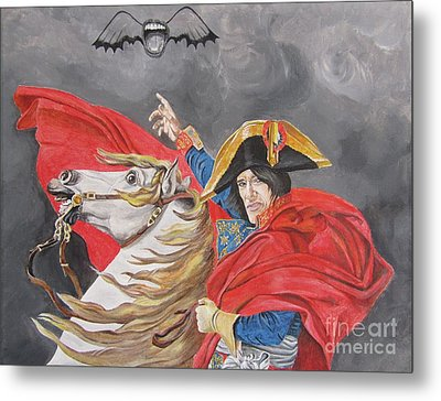 Joe Perry On Horse Metal Print by Jeepee Aero