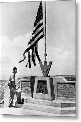 Joe Rosenthal On Iwo Jima Metal Print by Underwood Archives