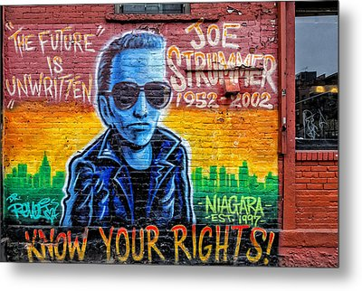 Joe Strummer Mural Lower East Side Nyc Metal Print