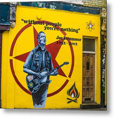 Joe Strummer Without People You're Nothing Metal Print