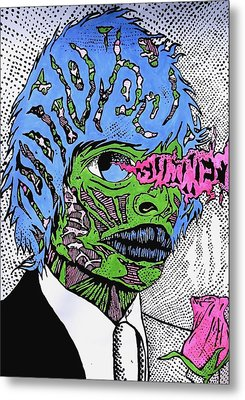 Joe The Monster Metal Print