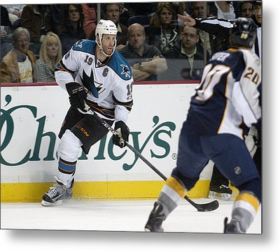 Metal Print featuring the photograph Joe Thornton by Don Olea