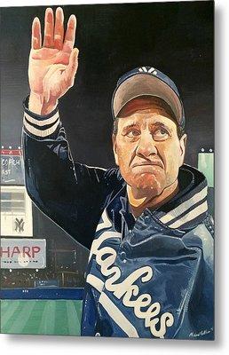 Joe Torre New York Yankees Metal Print by Michael  Pattison
