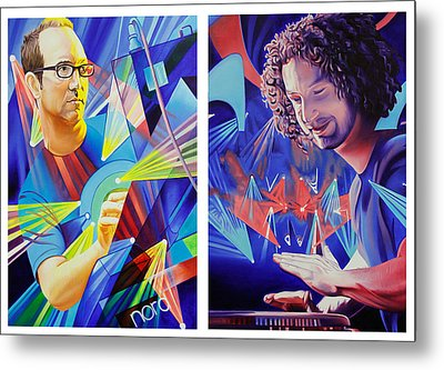 Metal Print featuring the painting Joel And Andy by Joshua Morton