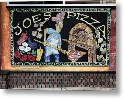 Joes Pizza Metal Print