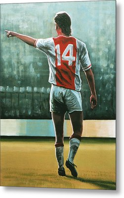 Johan Cruijff Nr 14 Painting Metal Print by Paul Meijering