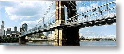 John A. Roebling Suspension Bridge Metal Print by Panoramic Images