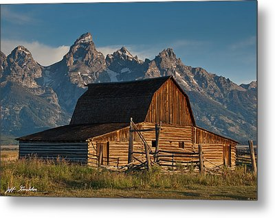 Metal Print featuring the photograph John And Bartha Moulton Barn by Jeff Goulden