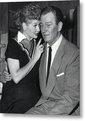 John And Lucille Metal Print