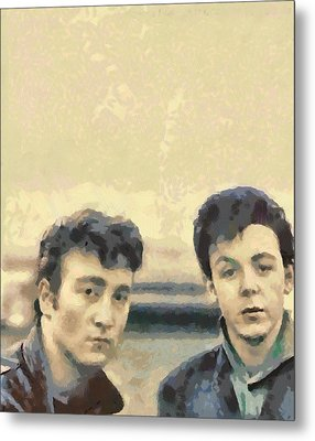 John And Paul When It All Started Metal Print by Paulette B Wright