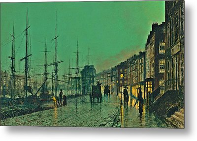 John Atkinson Grimshaw Shipping On The Clyde 1881 Metal Print