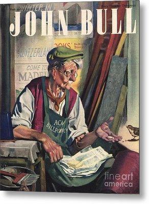 John Bull 1947 1940s Uk Birds Feeding Metal Print by The Advertising Archives