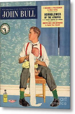 John Bull 1950s Uk Babies Fathers Metal Print by The Advertising Archives