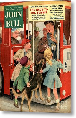 John Bull 1957 1950s Uk Dogs Buses Metal Print by The Advertising Archives