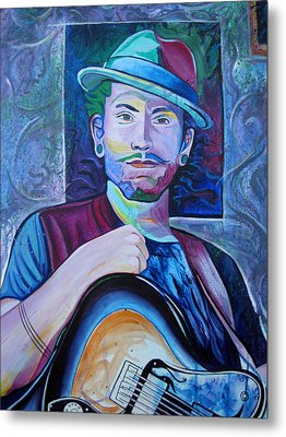 Metal Print featuring the painting John Butler by Joshua Morton