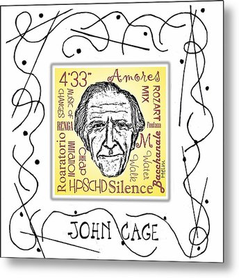 John Cage Metal Print by Paul Helm