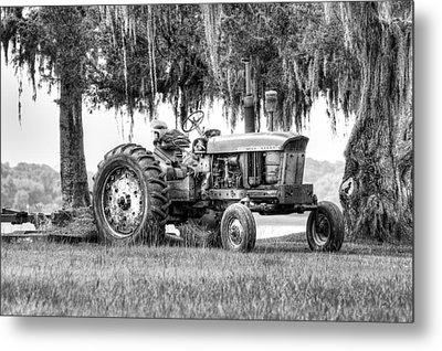 John Deer Tractor Under The Old Cedar Metal Print