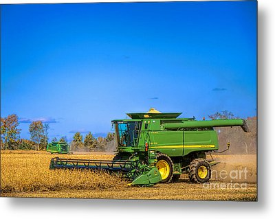 Metal Print featuring the photograph John Deere 9770 by Olivier Le Queinec