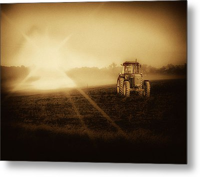 John Deere Glow Metal Print by Kelly Reber
