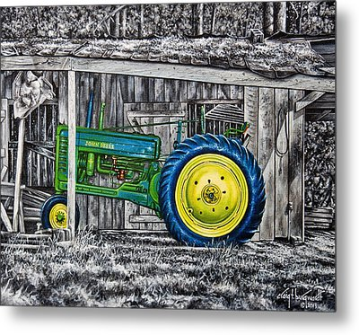 John Deere Green Metal Print by Craig T Burgwardt
