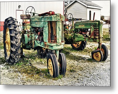 John Deere Past Metal Print by Kelly Reber