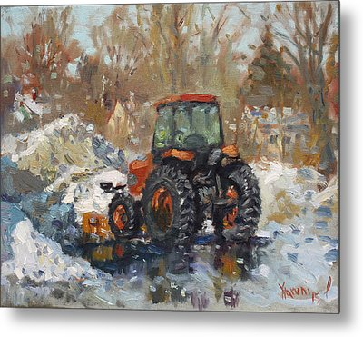 John Deere Taking A Brake Metal Print