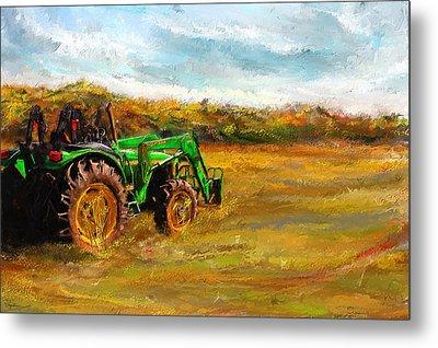 John Deere Tractor- John Deere Art Metal Print by Lourry Legarde