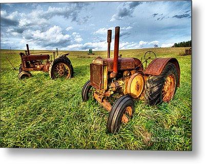 John Deere Tractors I - Blue Ridge Metal Print