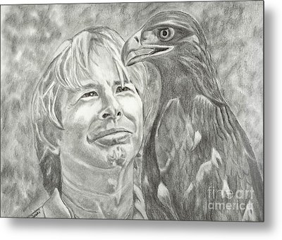 John Denver And Friend Metal Print by Carol Wisniewski