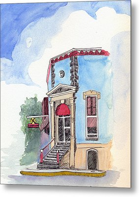 Metal Print featuring the painting John Dillinger Was Here by Katherine Miller