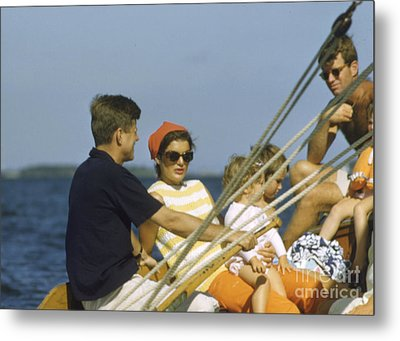John F. Kennedy Boating Metal Print by The Harrington Collection
