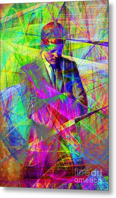 John Fitzgerald Kennedy Jfk In Abstract 20130610 Metal Print by Wingsdomain Art and Photography