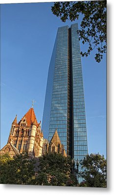 John Hancock And Trinity Church Metal Print by Joann Vitali