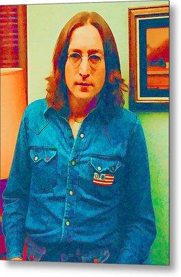 John Lennon 1975 Metal Print by William Jobes