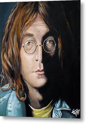 John Lennon 2 Metal Print by Tom Carlton