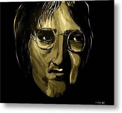 John Lennon 4 Metal Print by Mark Moore