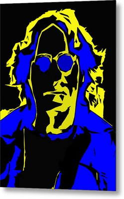 John Lennon Abstract  Metal Print