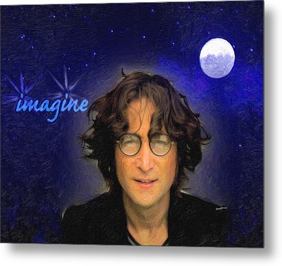 John Lennon Metal Print by Anthony Caruso