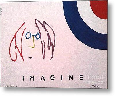 John Lennon - Imagine Metal Print by Richard John Holden RA