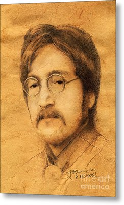 John Lennon Metal Print by Jaroslaw Blaminsky