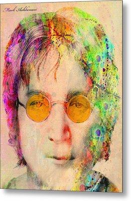 John Lennon Metal Print by Mark Ashkenazi