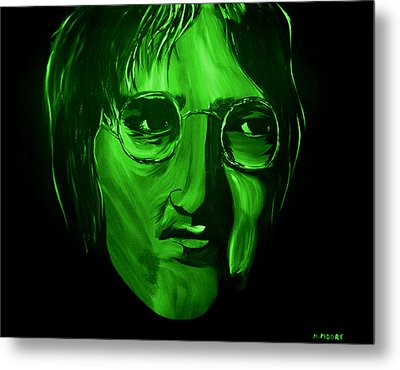 John Lennon Metal Print by Mark Moore